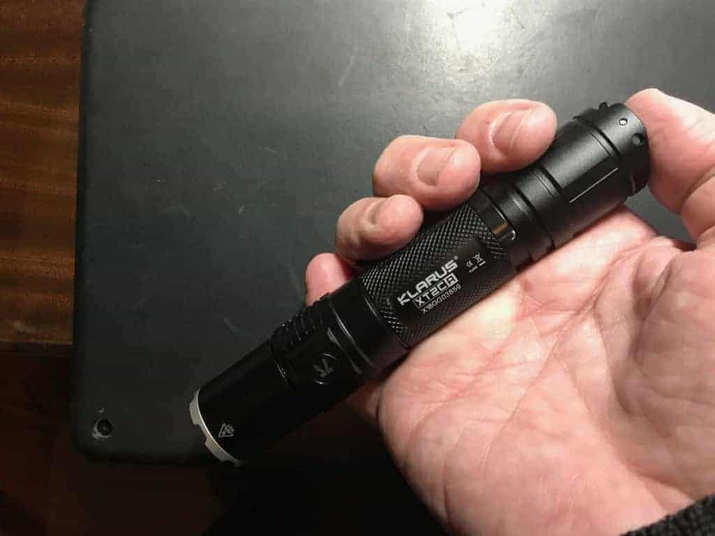 The Klarus XT2CR Dual-Switch Tactical Flashlight